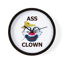Ass Clown Wall Clock