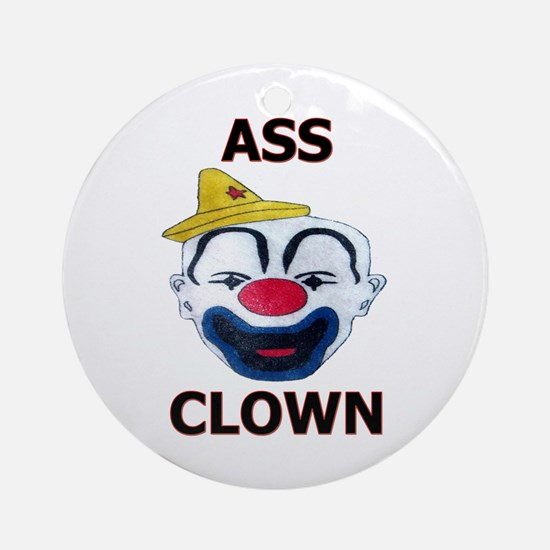 Ass Clown Ornament (Round)