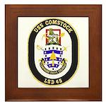 USS Comstock LSD 45 US Navy Ship Framed Tile
