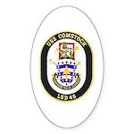 USS Comstock LSD 45 US Navy Ship Sticker (Oval 50
