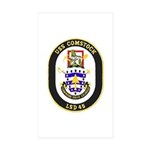 USS Comstock LSD 45 US Navy Ship Sticker (Rectangl
