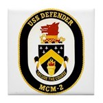 USS Defender MCM 2 US Navy Ship Tile Coaster
