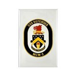 USS Defender MCM 2 US Navy Ship Rectangle Magnet (