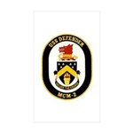 USS Defender MCM 2 US Navy Ship Rectangle Sticker