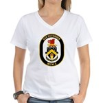 USS Defender MCM 2 US Navy Ship Women's V-Neck T-S