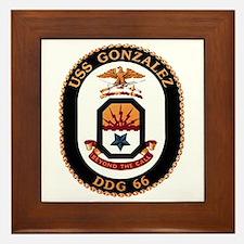 USS Gonzalez DDG 66 US Navy Ship Framed Tile