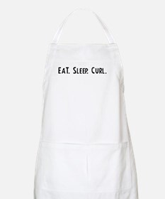 Eat, Sleep, Curl BBQ Apron