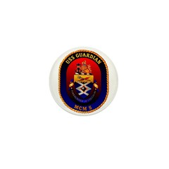 USS Guardian MCM 5 US Navy Ship Mini Button (10 pa