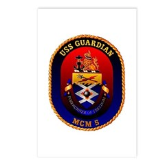 USS Guardian MCM 5 US Navy Ship Postcards (Package