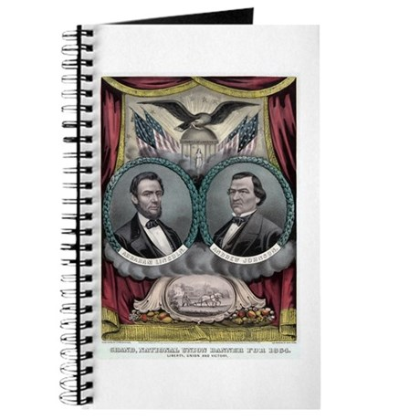 Abraham Lincoln 1864 Campaign Poster #1 Journal