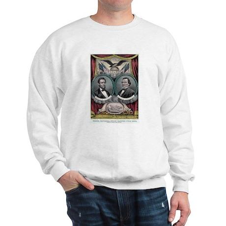 Abraham Lincoln 1864 Campaign Poster #1 Sweatshirt