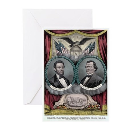 Abraham Lincoln 1864 Campaign Poster #1 Greeting C