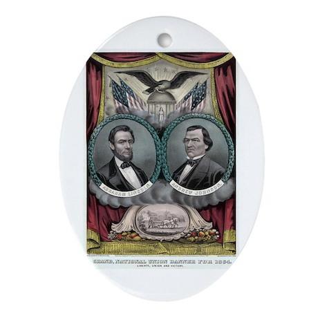 Abraham Lincoln 1864 Campaign Poster #1 Ornament (