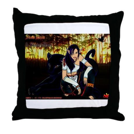 SnowVixen & ShadowFang - Throw Pillow