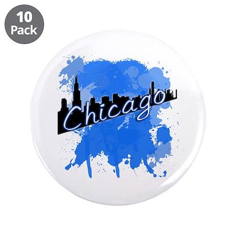 "Chicago Skyline 3.5"" Button (10 pack)"