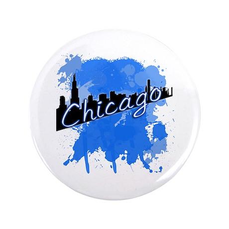 "Chicago Skyline 3.5"" Button (100 pack)"