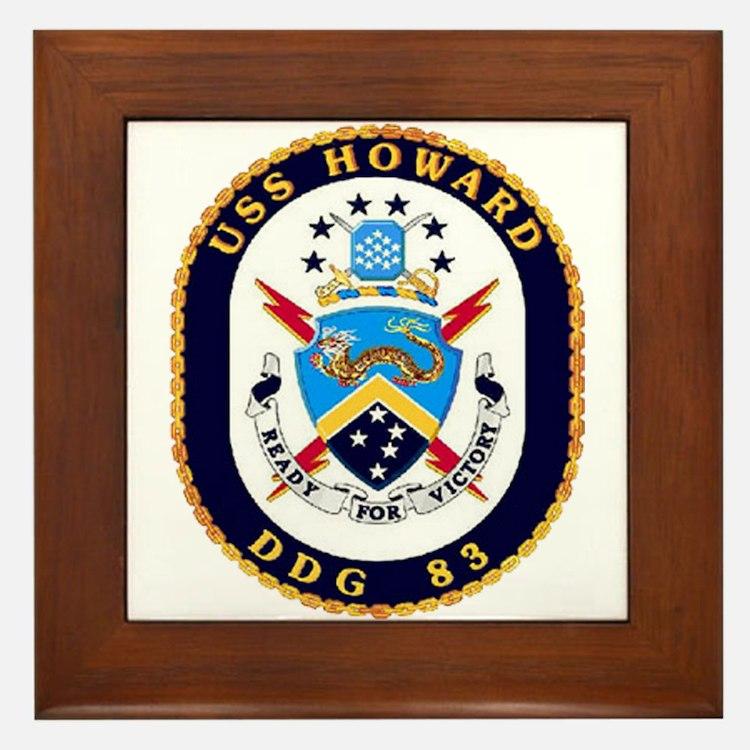 USS Howard DDG 83 US Navy Ship Framed Tile