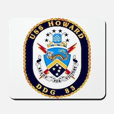 USS Howard DDG 83 US Navy Ship Mousepad
