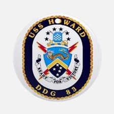 USS Howard DDG 83 US Navy Ship Ornament (Round)