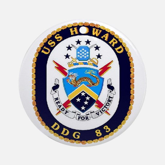 USS Howard DDG 83 US Navy Ship Ornament (Round)