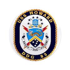 "USS Howard DDG 83 US Navy Ship 3.5"" Button (100 pa"