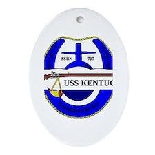 USS Kentucky SSBN 737 US Navy Ship Oval Ornament