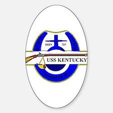 USS Kentucky SSBN 737 US Navy Ship Oval Decal