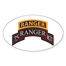 75 Ranger RGT scroll with Ran Oval Decal