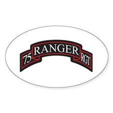 75 Ranger RGT scroll Oval Decal