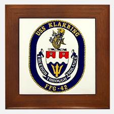 USS Klakring FFG 42 US Navy Ship Framed Tile