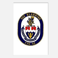 USS Klakring FFG 42 US Navy Ship Postcards (Packag