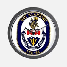 USS Klakring FFG 42 US Navy Ship Wall Clock