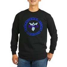 Larger Logo with Ghost Transparent Long Sleeve T-S