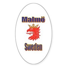 The Malmo Store Oval Decal