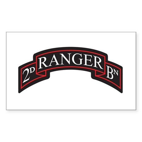2D Ranger BN Scroll Rectangle Sticker