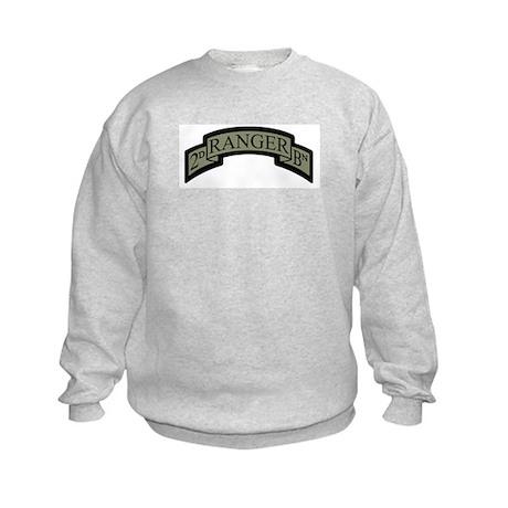 2D Ranger BN Scroll ACU Kids Sweatshirt