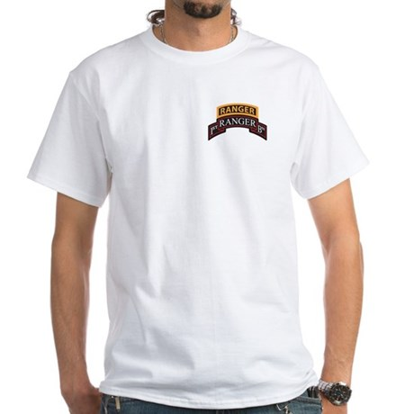 1st Ranger BN Scroll with Ran White T-Shirt