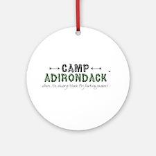 Camp Adirondack Ornament (Round)