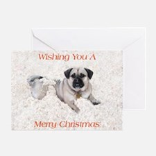 Funny Wanted pug Greeting Card
