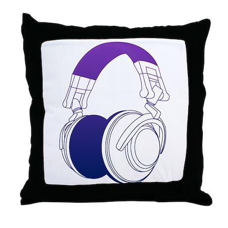 DJ Headphones 2 Throw Pillow