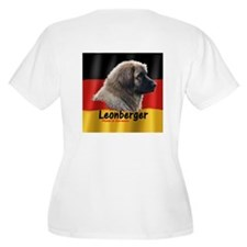 Leonberger Plus Size V-Neck T-Shirt