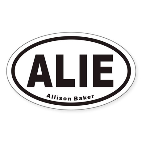 ALIE Euro Oval Sticker
