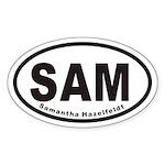 SAM Euro Oval Sticker