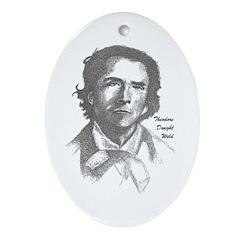 Theodore Dwight Weld Oval Ornament