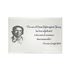 Theodore Dwight Weld Rectangle Magnet