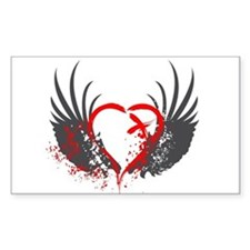 Blood Wings Rectangle Decal