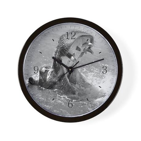 Feed Me Hippo Wall Clock