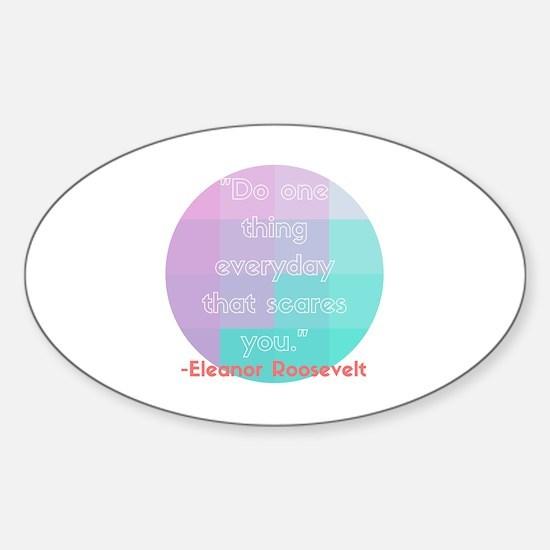 Cute Eleanor roosevelt Sticker (Oval)