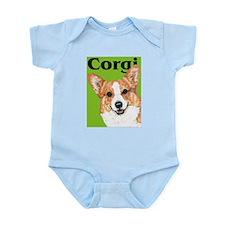 Green Pop Pembroke Welsh Corgi Infant Bodysuit