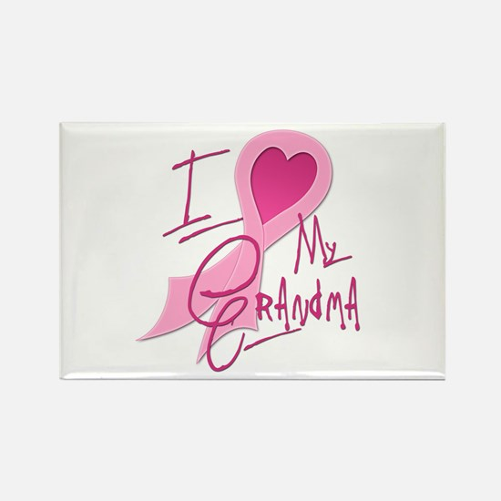 Heart/Support My Grandma Rectangle Magnet